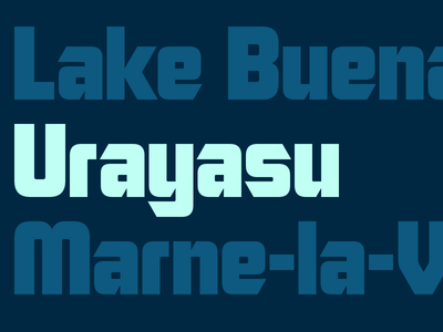 Urayasu<p>My brand new font Urayasu is now available for only $50. Check out the attachments for the full character set!</p>