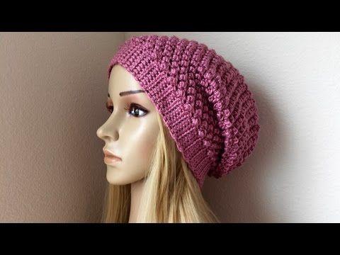 How To Make Crochet Hat Beanie Youtube Crochet Hats Crochet Hat Tutorial Crochet Slouch Hat