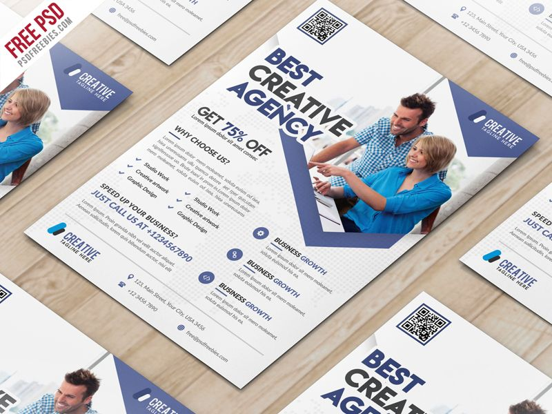 Awesome Business Marketing Flyer Free Psd Template Download