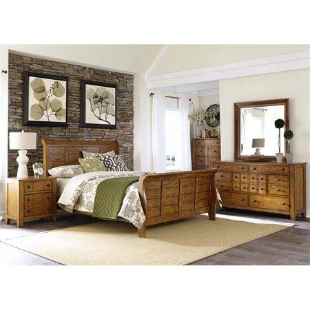 Liberty Furniture Grandpa\u0027s Cabin 5 Piece Queen Sleigh Bedroom Set