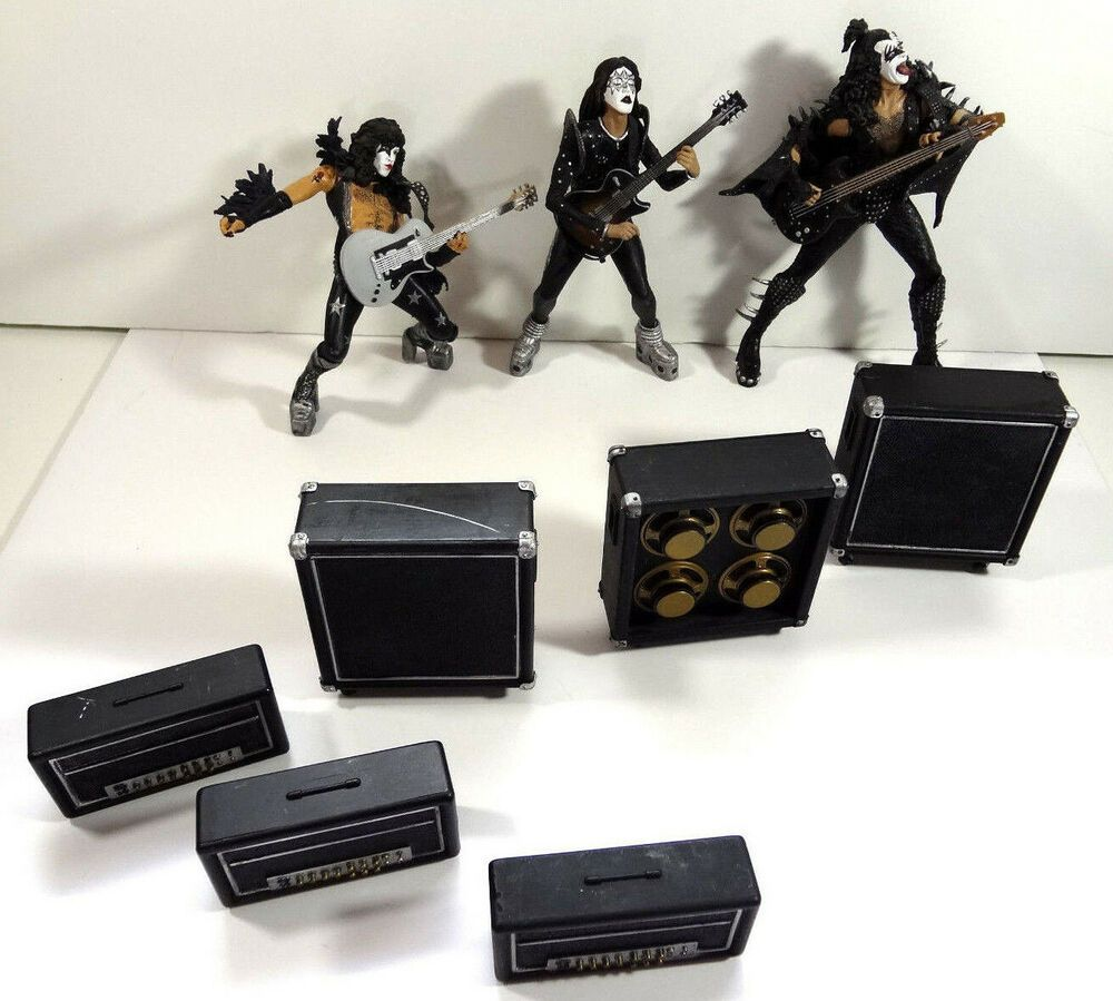 Kiss Alive Action Figures Lot Gene Simmons Ace Paul Speakers