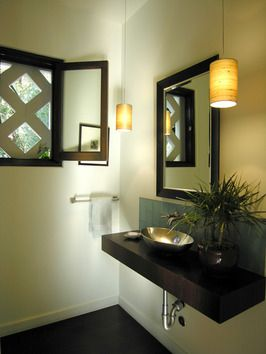 maybe something like this over the window in the master bathroom for some privacy, but not all the light is blocked