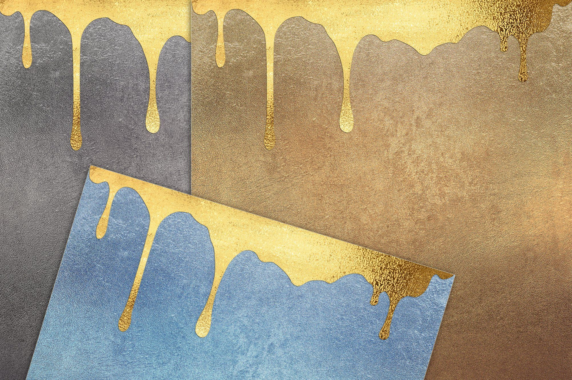 Gold Foil Dripping Glitter Texture Graphic Projects Gold Drip Digital Paper