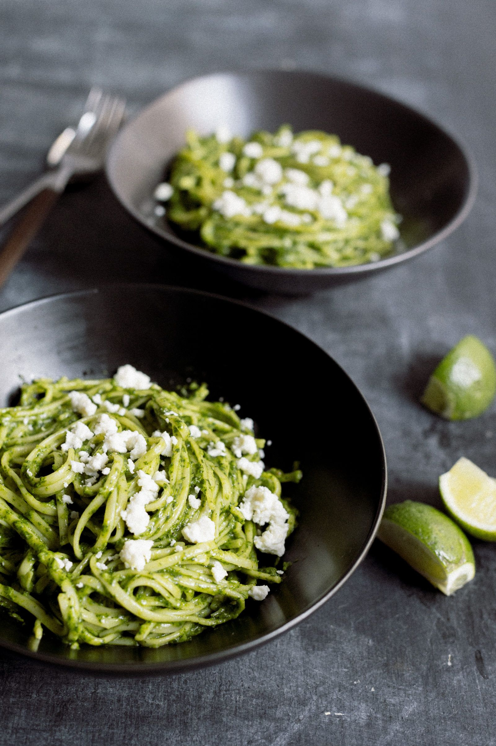Peruvian Pesto Tallarines Verde Recipe Food And Drink