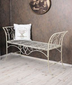 gartenbank shabby chic bank sitzbank weiss metallbank landhausstil home pinterest shabby. Black Bedroom Furniture Sets. Home Design Ideas