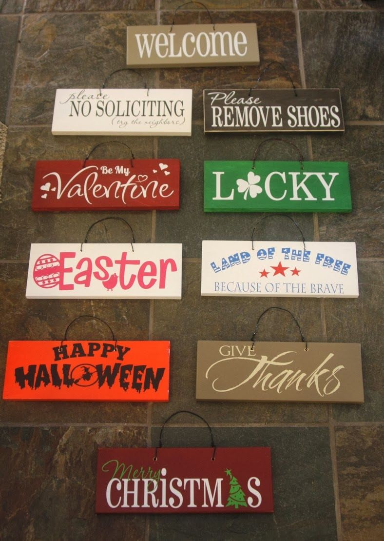 Wood Signs Sayings Diy Home Decor
