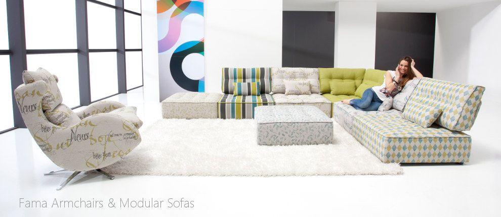 Fama Armchairs Modular Sofas Furniture Corner Sofa Living Room Lounge Furniture