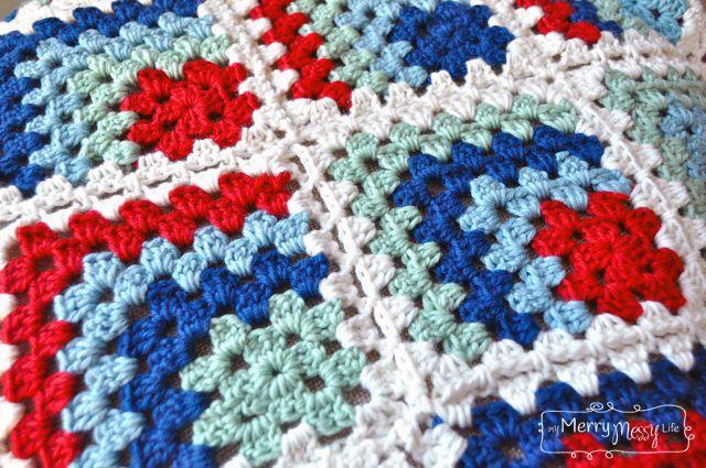 Crochet Baby Blanket - Mitered Granny Square | Manta, Ganchillo ...