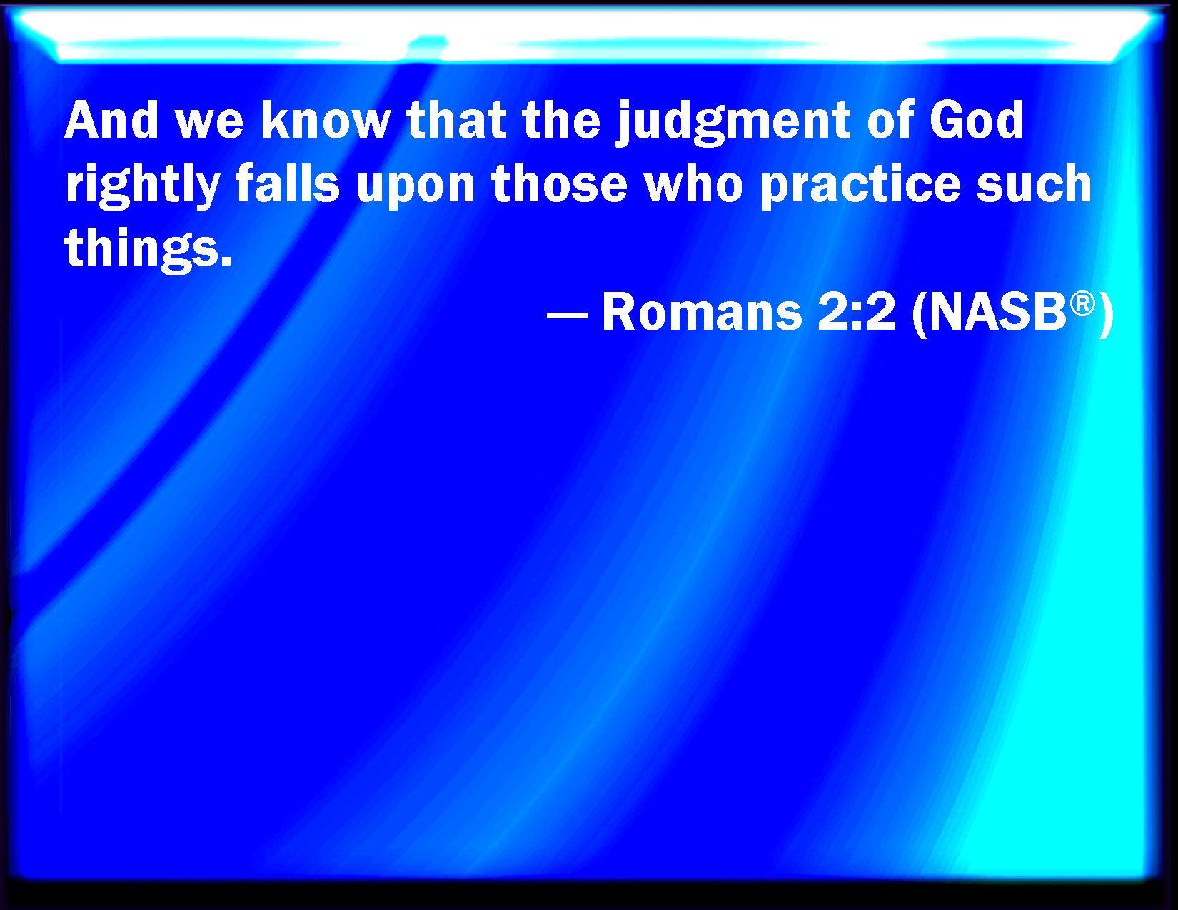Romans 2:2