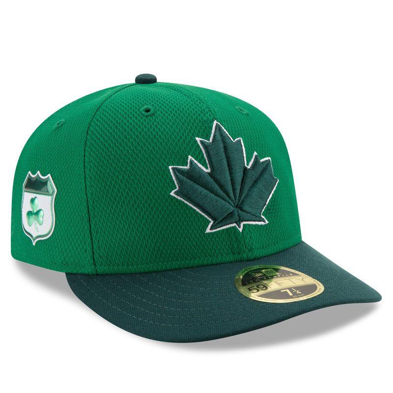 eab87db9c29 Toronto Blue Jays New Era 2017 St. Patrick s Day Diamond Era 59FIFTY Low  Profile Fitted Hat - Green