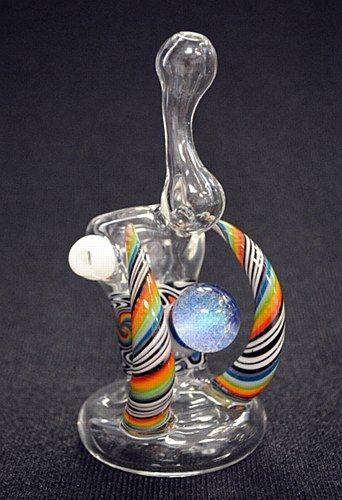 """5.5"""" Tall Mini Heady Hand Blown Glass Bubbler"""