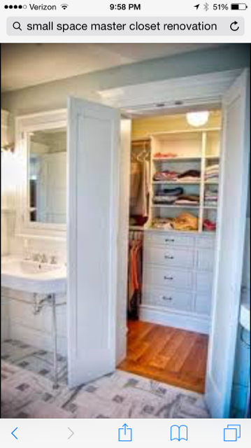 Love The Double Door To The Walk In Closet Off Of The