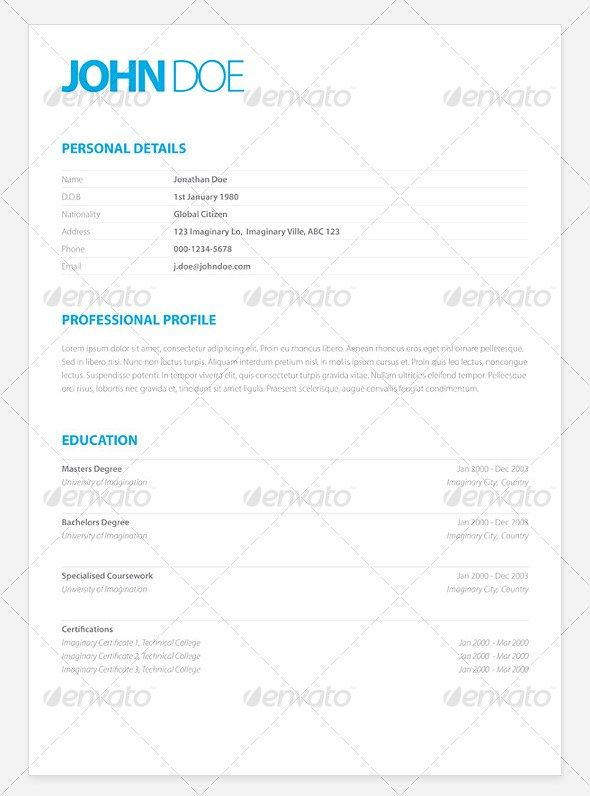 Clean Elegant Resume Samples Design YEAH! Pinterest Template - clean resume template