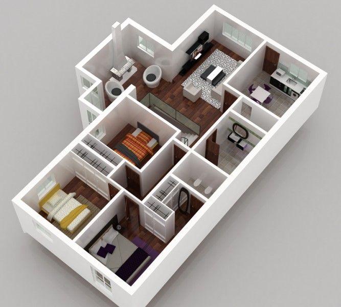 Modelos de plantas de casas em 3d gr tis plantas de for Casa 3d gratis