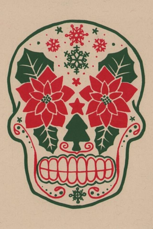 Christmas Sugar Skull Holiday Ideas Pinterest Sugar Skulls