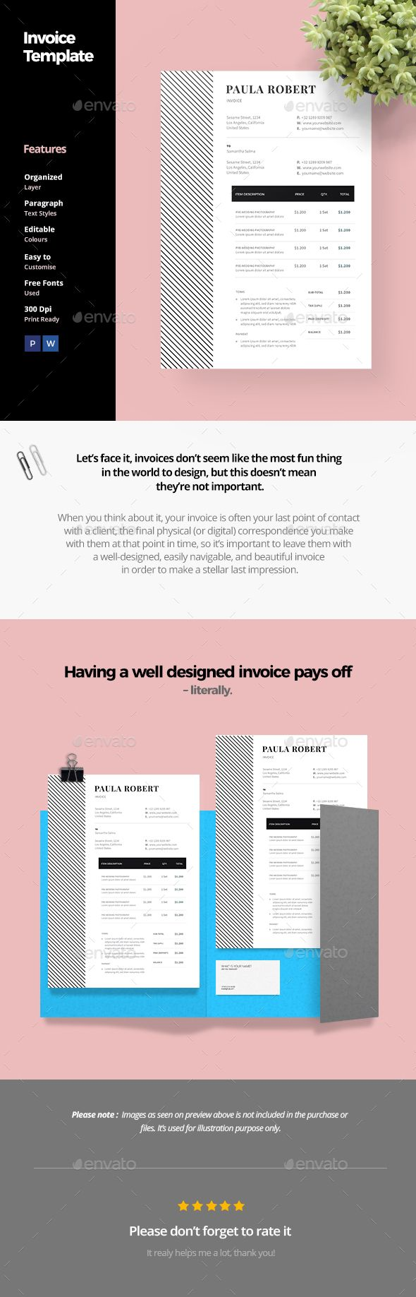 Invoice Template By Anabellahope Clean Invoice Template Clean And