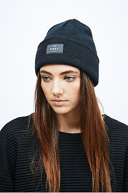 77c4b947bc0 Obey Vernon Beanie in Black