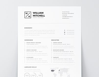Check Out This Behance Project Free Minimalistic Clean Resume Ps Ai Https Www Behance Clean Resume Template Minimalist Resume Template Clean Resume