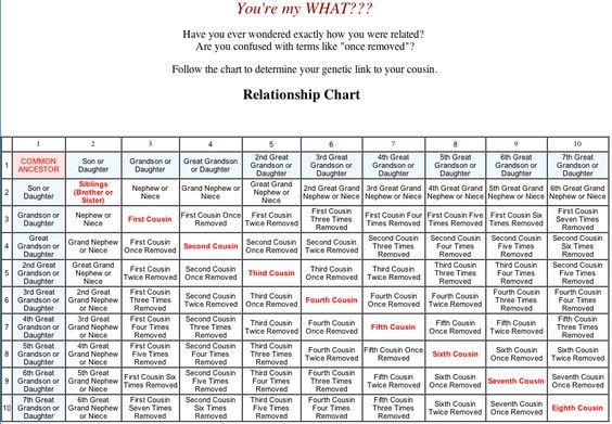 You\u0027re my What?! Second cousin twice removed on my maternal side