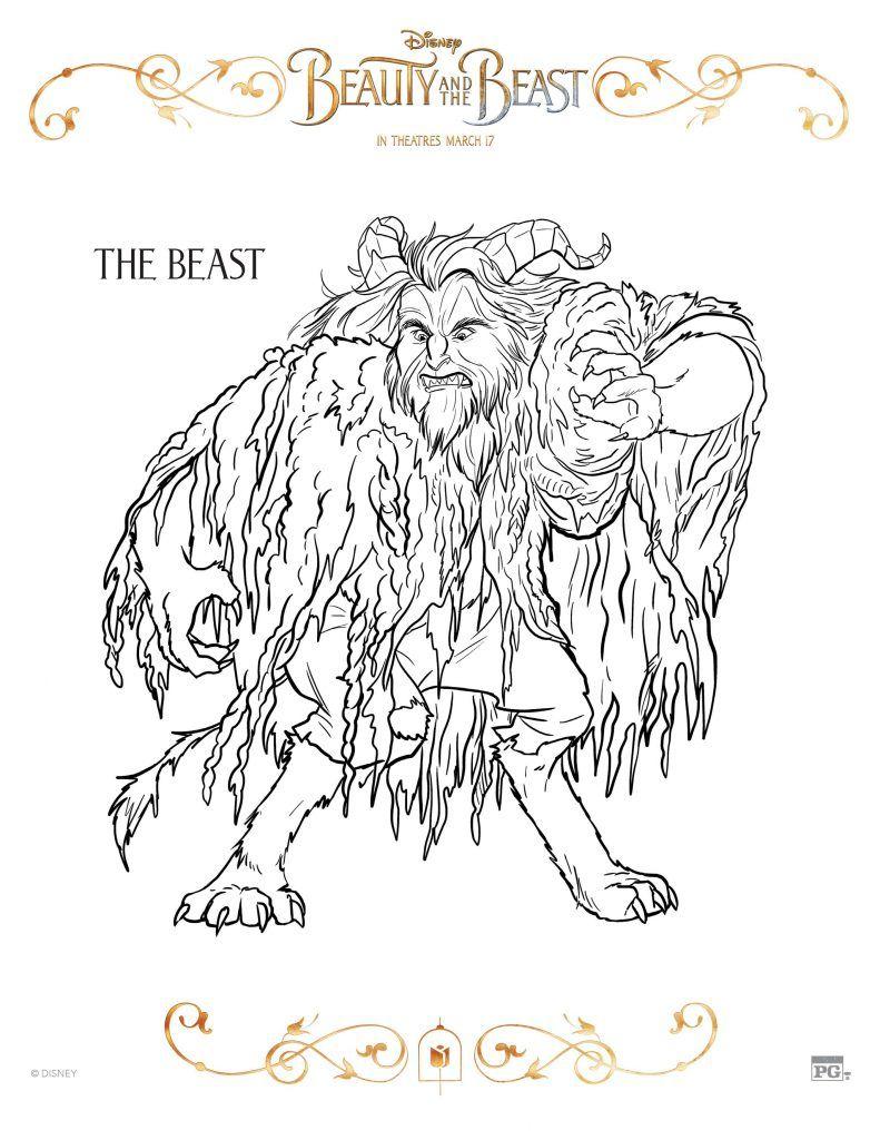 Utah Sweet Savings: FREE Printable Beauty and the Beast Coloring ...