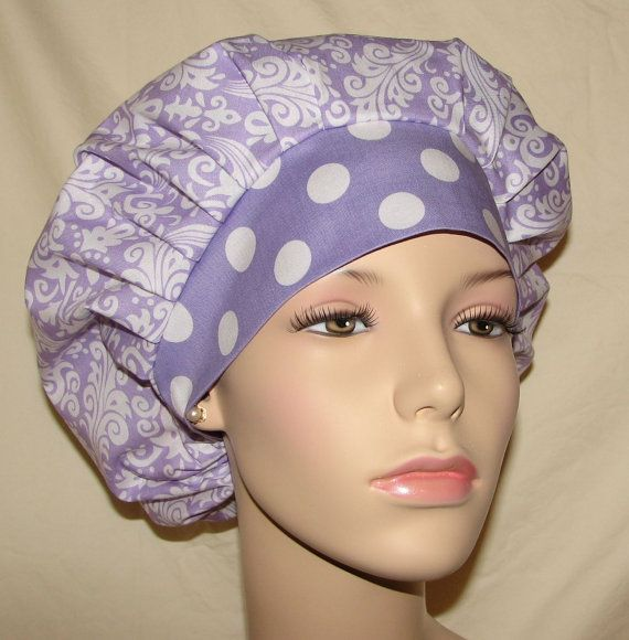 Bouffant Surgical Scrub Hats  Hollywood Damask by ScrubHeads, $12.50