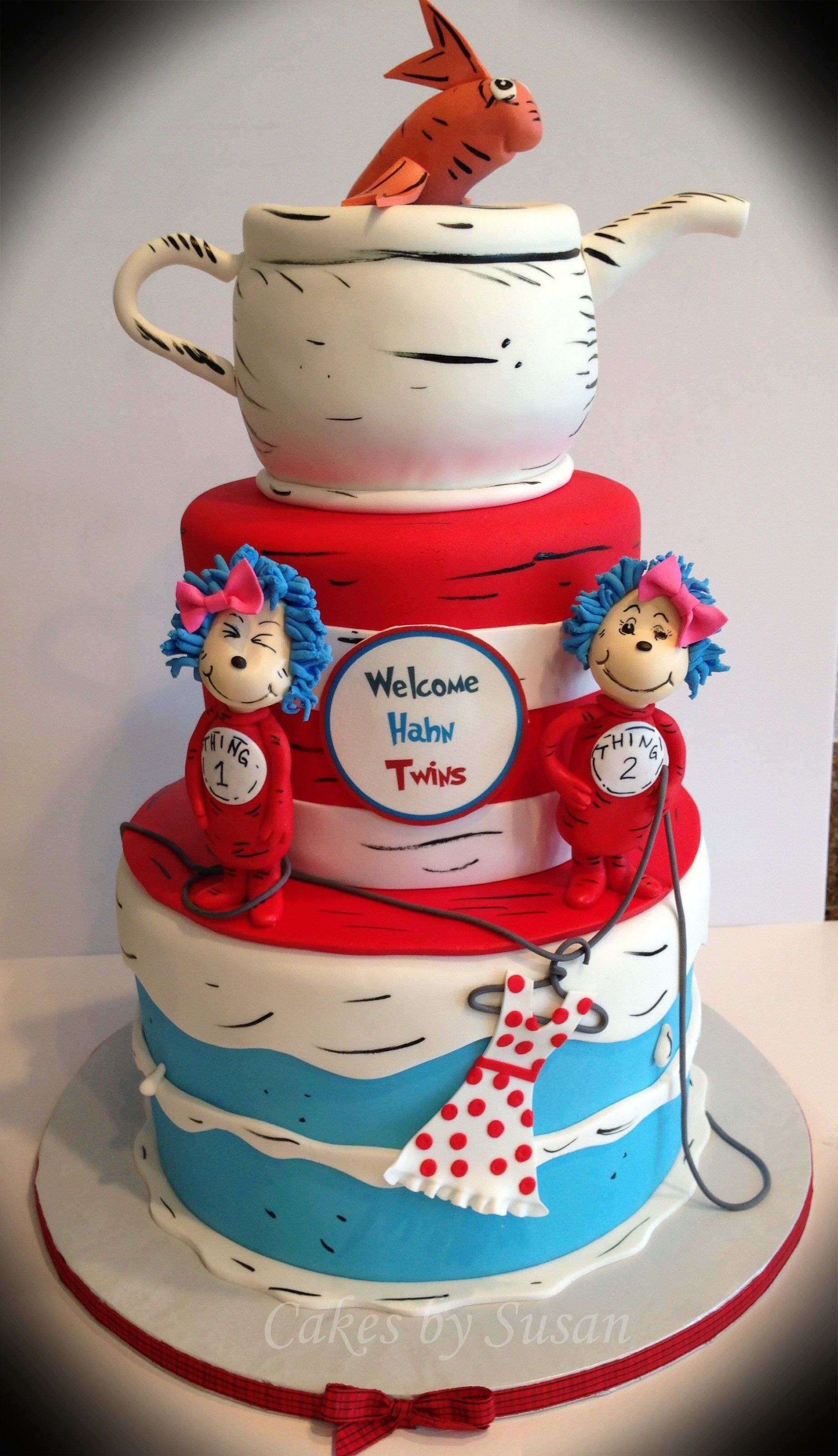 Thing 1 thing 2 baby shower for twin girls But like way less