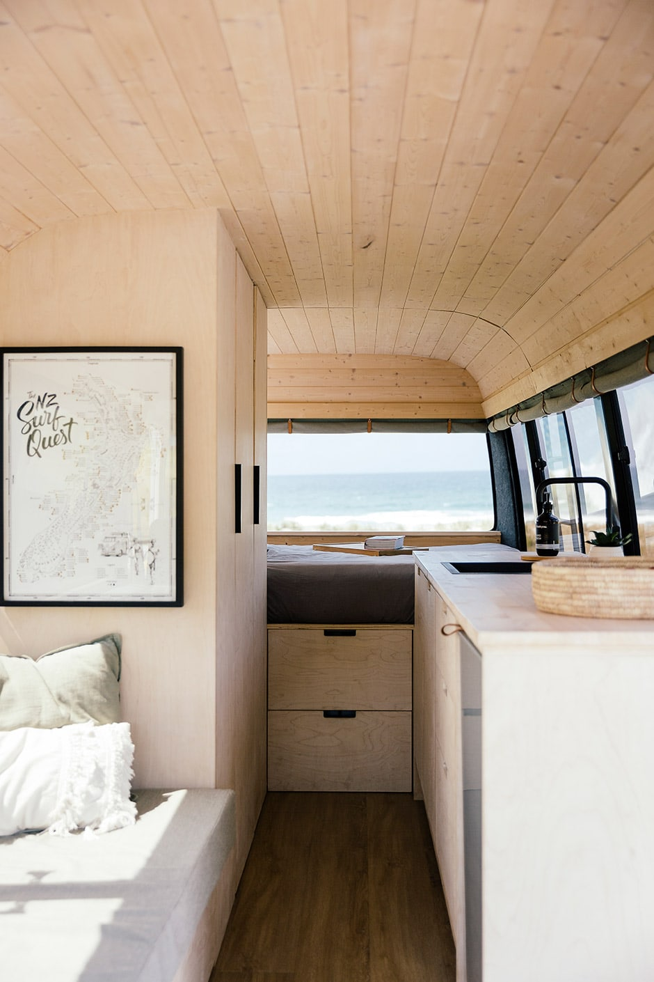 A Scandi style surf van with a plan
