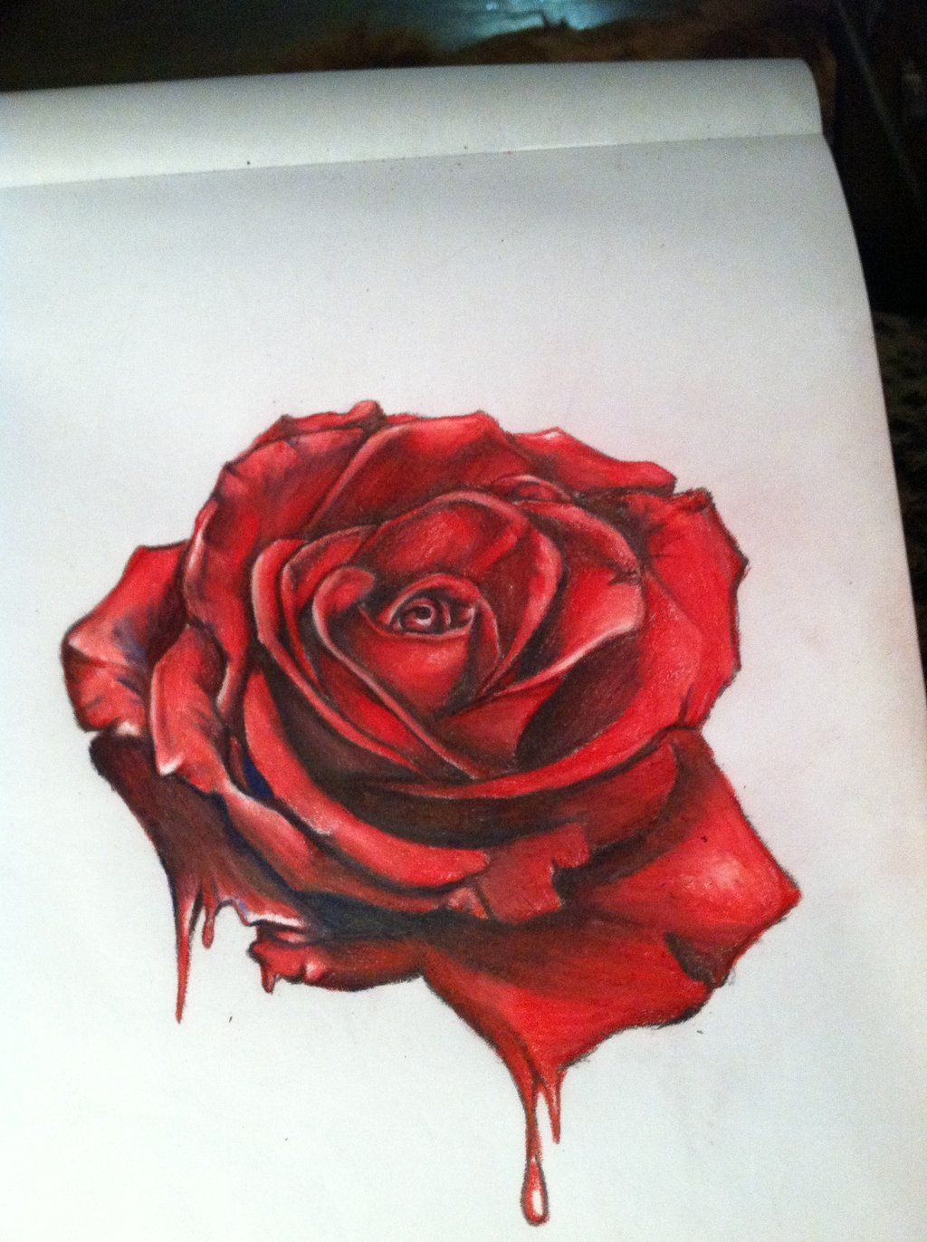 9799c4ea2 realism rose drawing | Realistic Red Rose Drawing Hyper surrealistic rose by