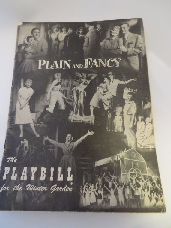 Vintage Playbill 1955 Plain and Fancy Winter by PECollectibles