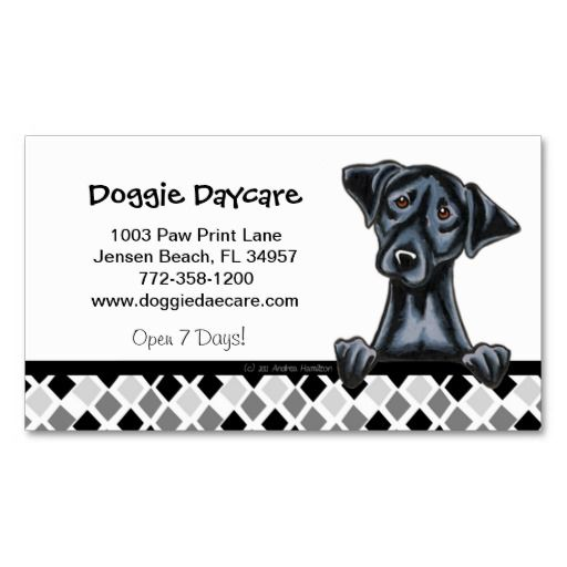 Doggie Daycare Dog Business Black Lab Business Card Zazzle Com Dog Daycare Dog Business Dog Walking Business
