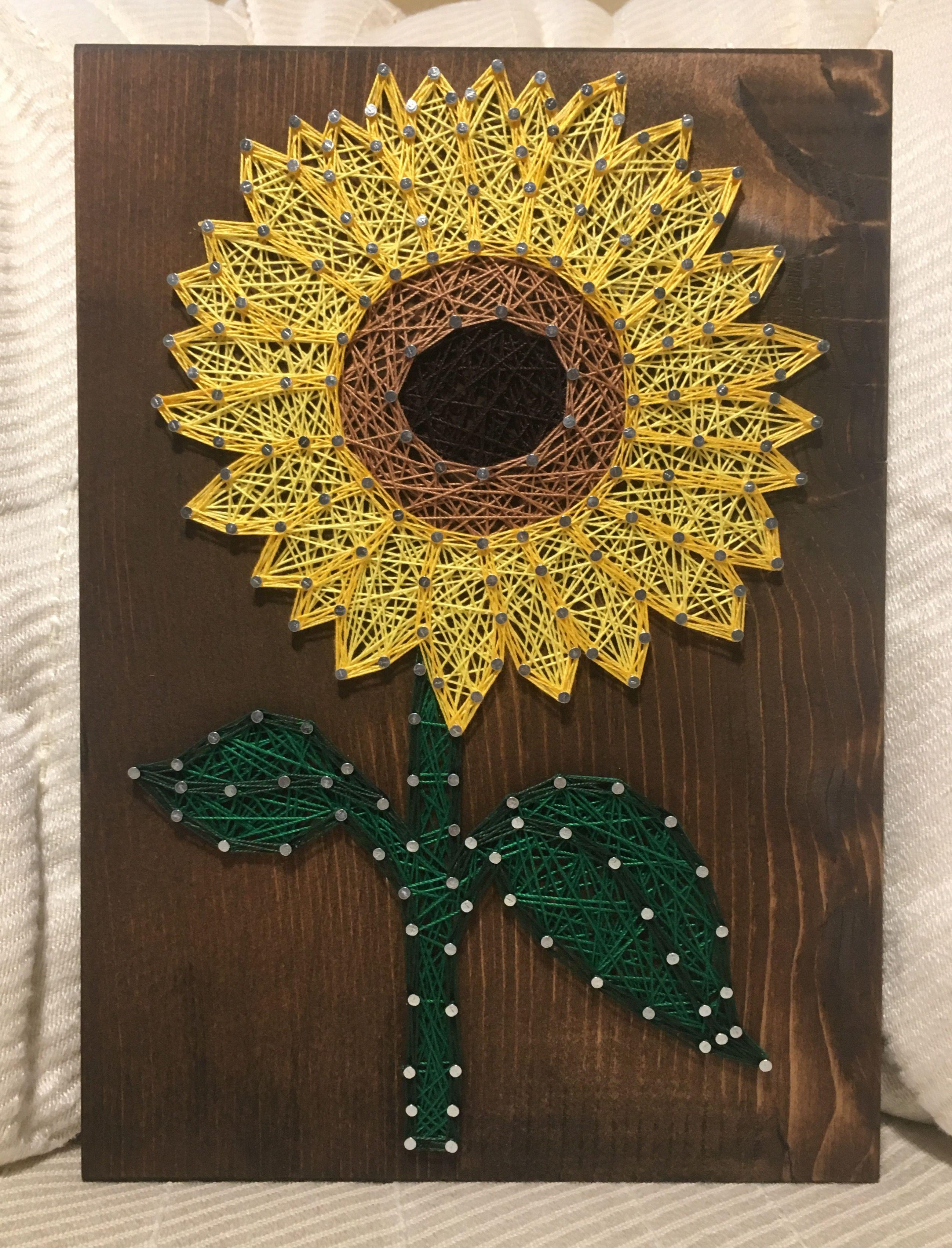 Sunflower String Art - order from KiwiStrings on Etsy! www ...