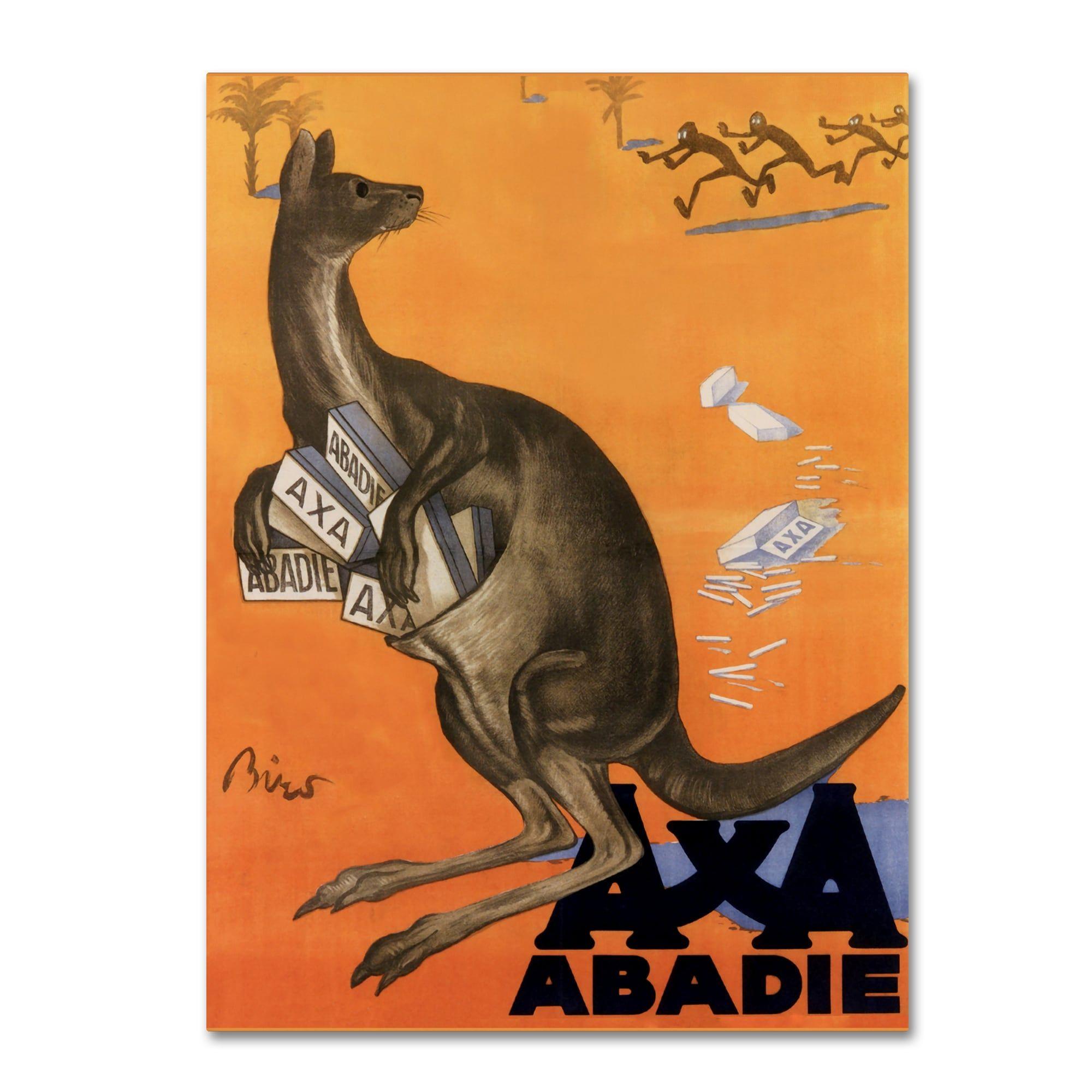 Vintage Apple Collection 'Kangaroo' Canvas Art