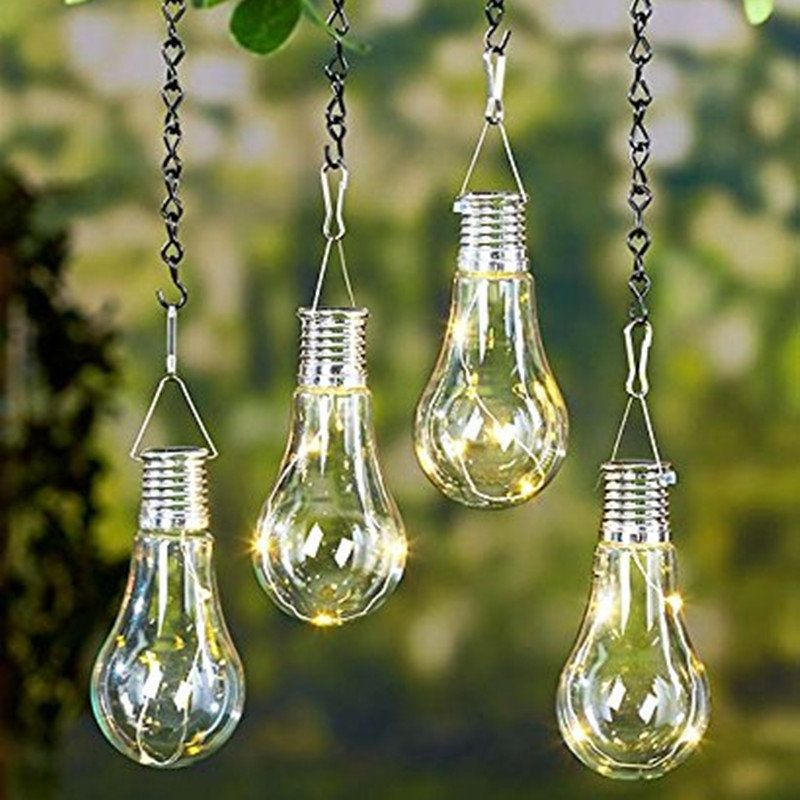 Solar Power Outdoor Garden Light Bulb Nightlight Camping Hanging
