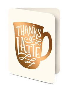 Artisan Note Card- Thanks a Latte