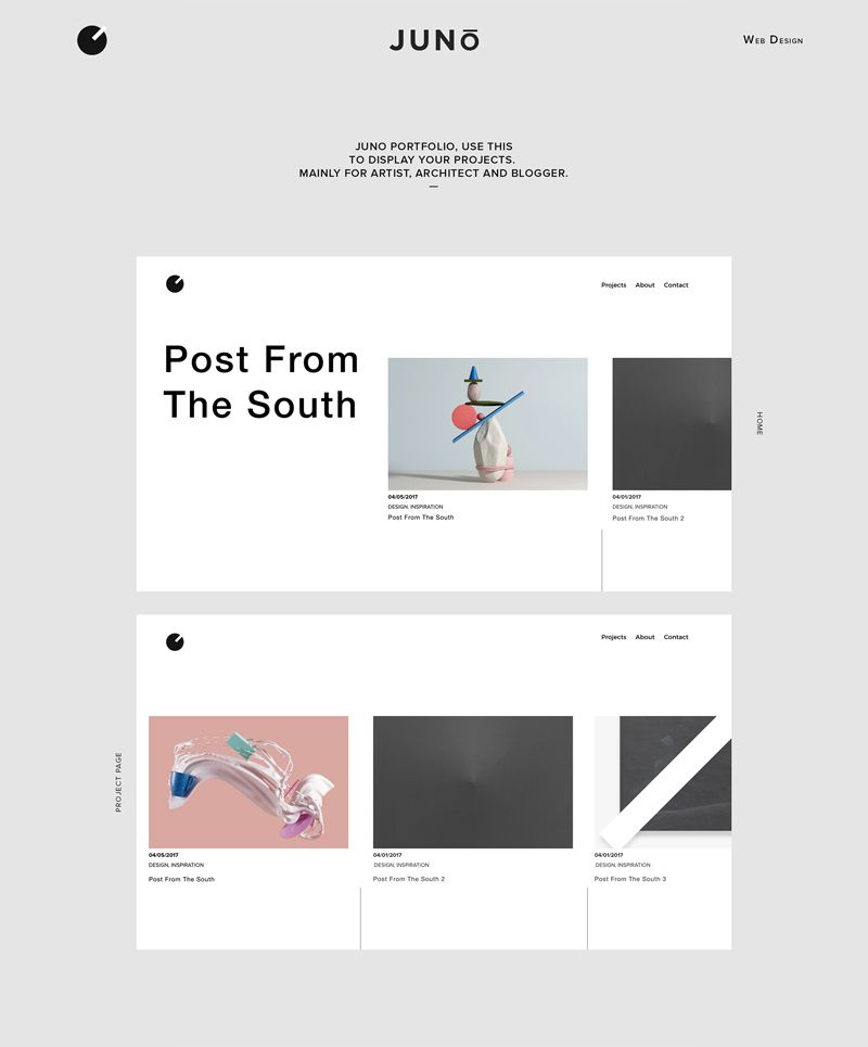 Juno Is A Minimalistic Portfolio Website Template Minimal Web Design Portfolio Website Template Web Portfolio