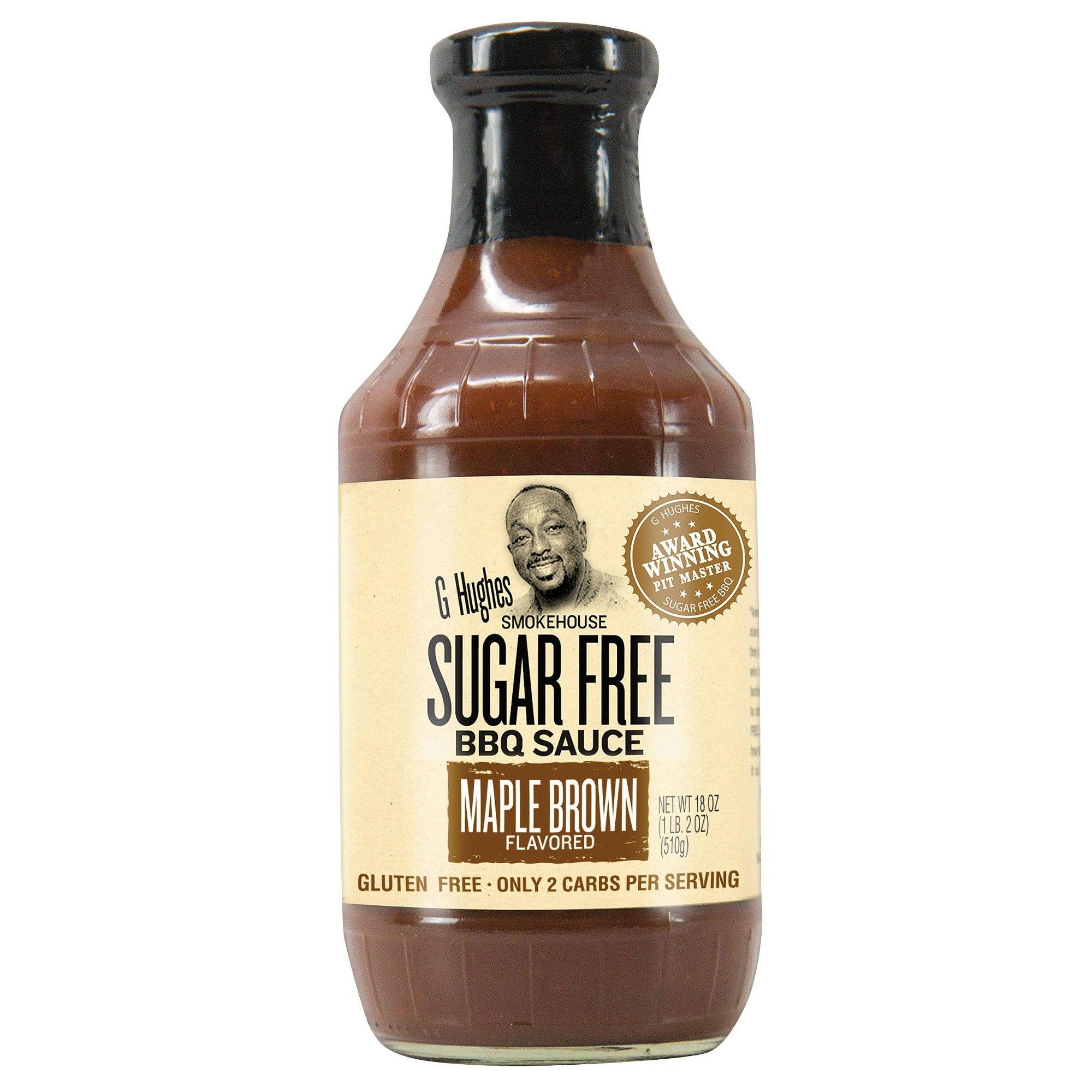G hughes smokehouse sugar free bbq sauce maple brown