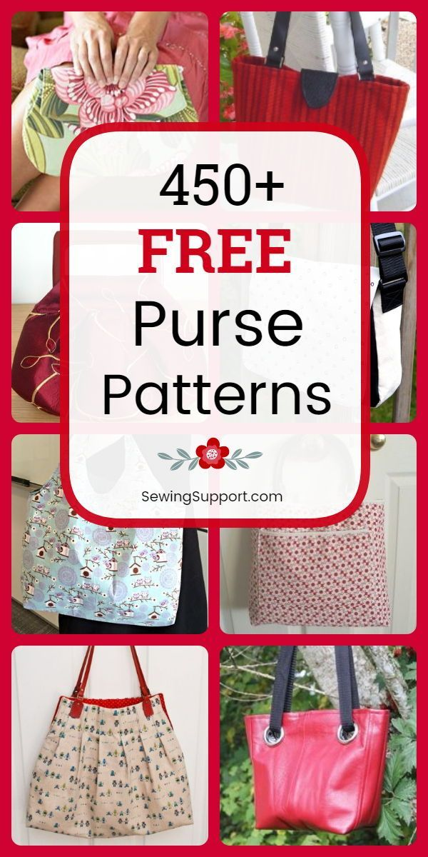 450+ Free Purse Patterns #pursesandbags