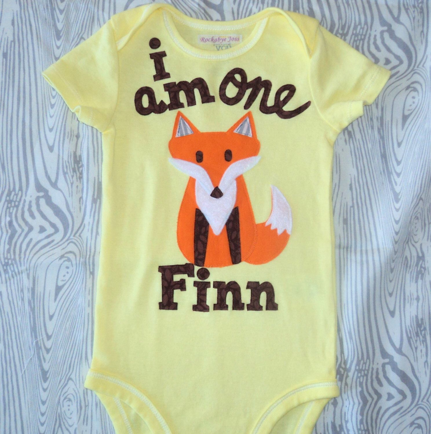 Boys Fox birthday one piece, First birthday shirt, Woodland birthday party, Fall onesie, personalized, One, animal, boys one piece, bodysuit by RockabyeJoss on Etsy https://www.etsy.com/listing/205540098/boys-fox-birthday-one-piece-first