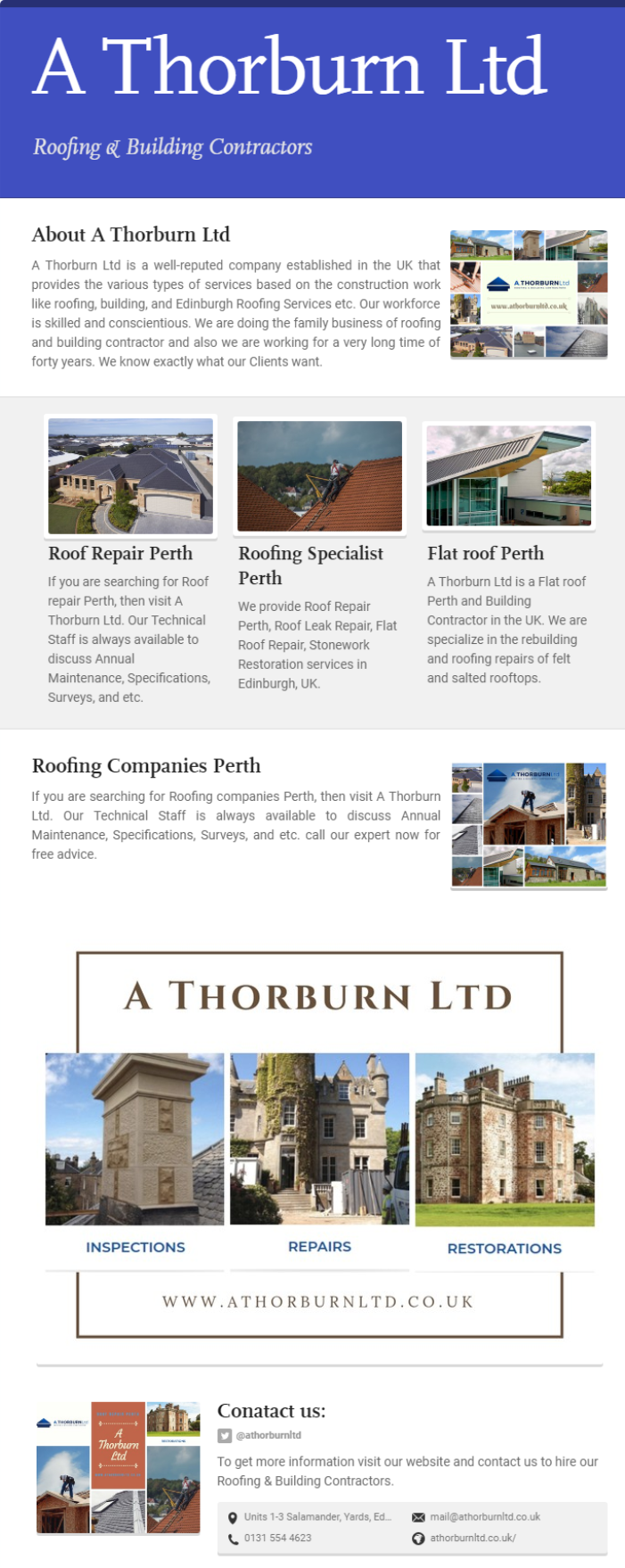 A Thorburn Ltd Is A Flat Roof Perth And Building Contractor In The Uk We Are Specialize In The Rebuilding And Roofing Repairs Of Fel Flat Roof Repair Flat Roof