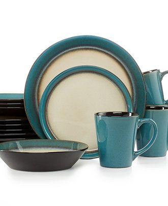Pfaltzgraff Everyday Dinnerware Aria Teal 16-Pc. Set Service for 4 -  sc 1 st  Pinterest & Pfaltzgraff Everyday Dinnerware Aria Teal 16-Pc. Set Service for 4 ...