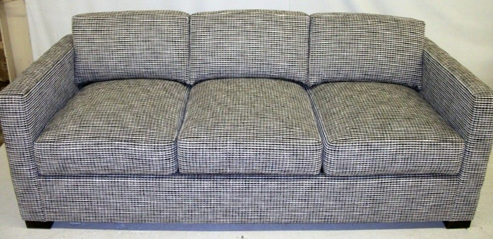 Sofa Recovered With Chanel Tweed Fabric