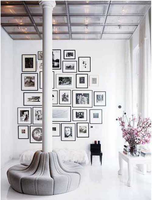 100 fotos e ideas para decorar las paredes con cuadros, marcos y ...