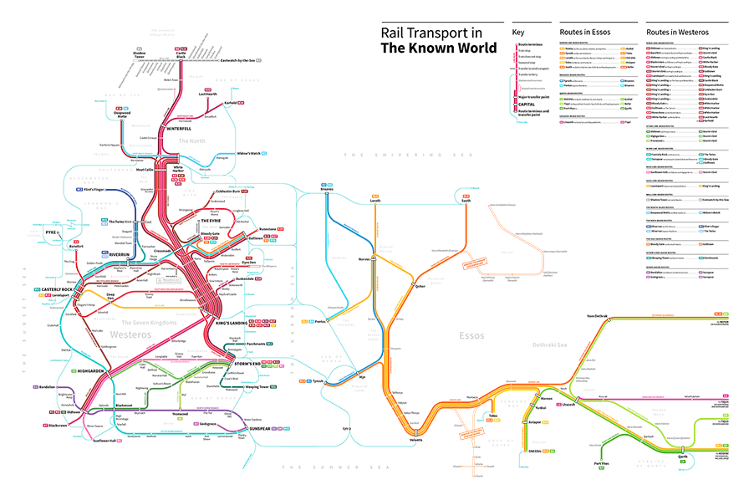 """""""Game Of Thrones"""" Now Has A Subway Map Transit map, Map"""