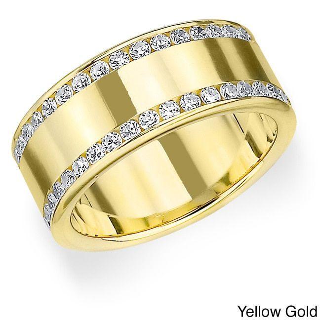 Amore 14k Gold 1ct TDW Diamond Anniversary Eternity Band