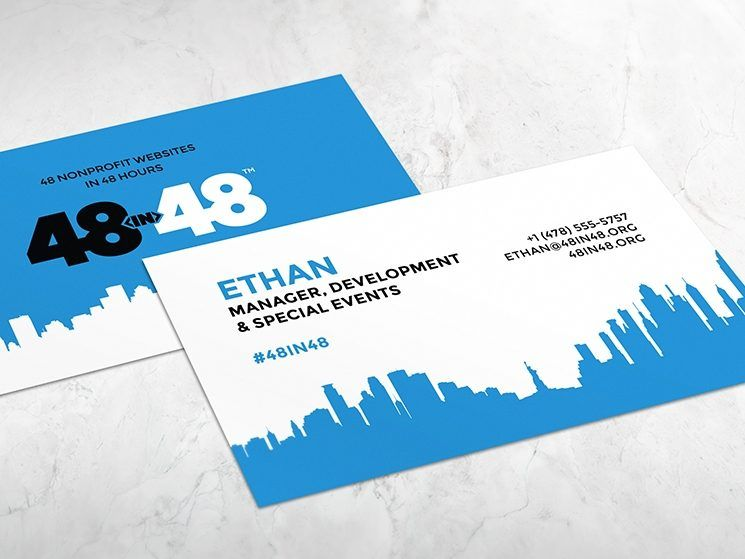 48in48 Business Card Business Card Design Creative Business Card Inspiration Business Card Design