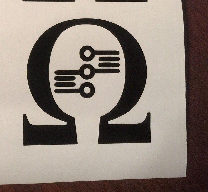 Ohm Symbol V3 Omega Vaping Vinyl Decal Vape Sticker Vape On