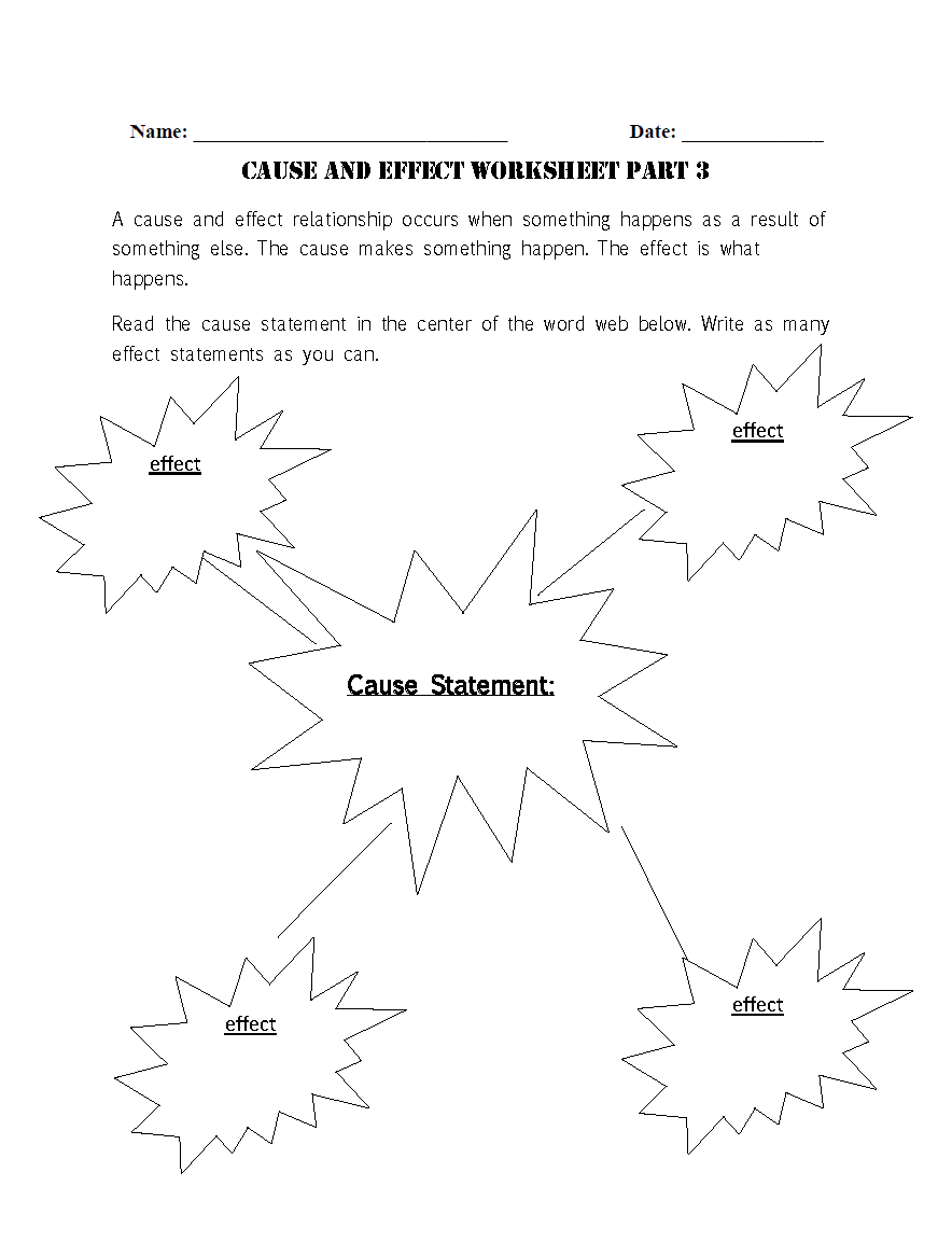 Cause And Effect Worksheets Reading Worksheets Cause And Effect Worksheets Cause And Effect [ 1166 x 884 Pixel ]