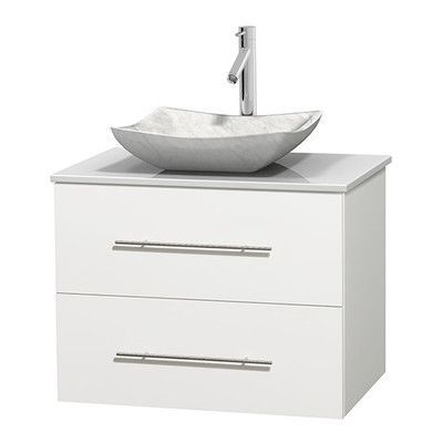 "Wyndham Collection Centra 30"" Single Bathroom Vanity Set Bas"