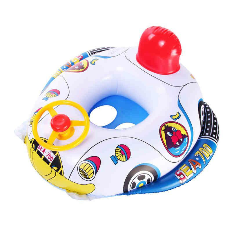 New Cute Baby Inflatable Swimming Pool Ring Seat Floating Car Shape ...