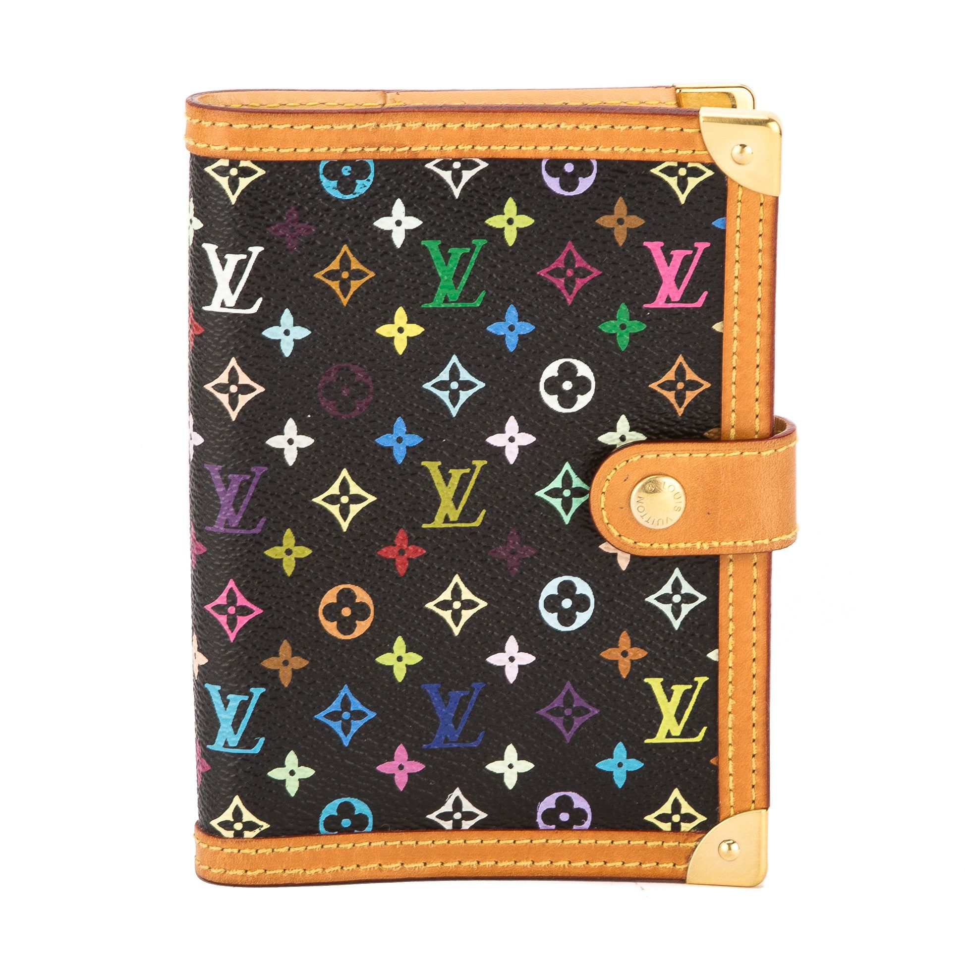 a84162f54f9a Louis Vuitton Black Monogram Canvas Multicolore Agenda PM Day Planner -  3506040